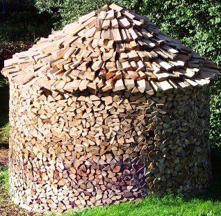 German Round Method for Stacking Firewood